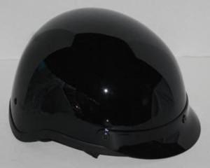 Adult Half Shell Glossy Black