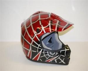 Youth Motocross Burgundy Spider